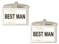 Dalaco 90-226 Best Man Wedding Rhodium Plated Cufflinks